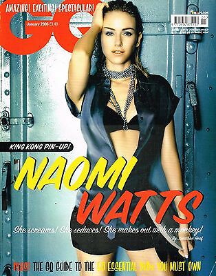 GQ UK January 2006 NAOMI WATTS By MARC HOM James Blunt SVENJA PAROTAT @Very Good