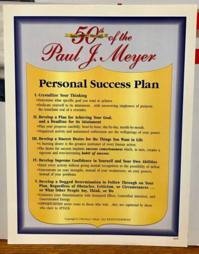 Success Motivation Institute 50th Anniversary Personal Success Plan Paul J Meyer