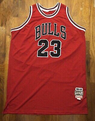 Rare NBA Bulls Jordan Hardwood Classic 1984/1985 Mitchell & Ness Jersey Sz 60 J3