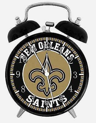 New Orleans Saints Alarm Desk Clock 3.75 Home or Office Decor E441 Nice Gift