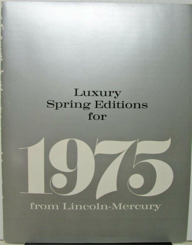 1975 Lincoln Mercury Luxury Spring Edition Portfolio Continental Mark IV Cougar