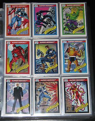 1990 Marvel Universe BASE Set of 162 Cards NM-M!! Impel + Promo Set!!