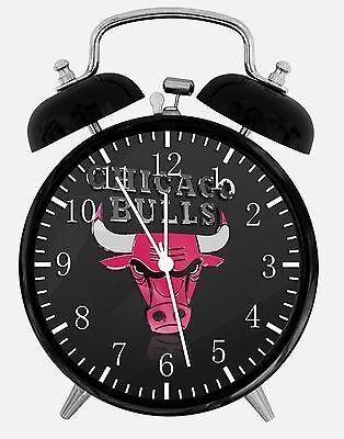 Bulls Desk Clock - Chicago Bulls Alarm Desk Clock 3.75