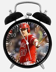 Mike Trout Alarm Desk Clock 3.75 Home or Office Decor E476 Nice For Gift