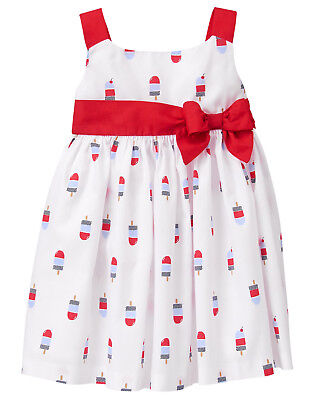 NWT Gymboree Star Spangled Days July 4 Popsicle Print Dress Baby - Star Spangled Girl