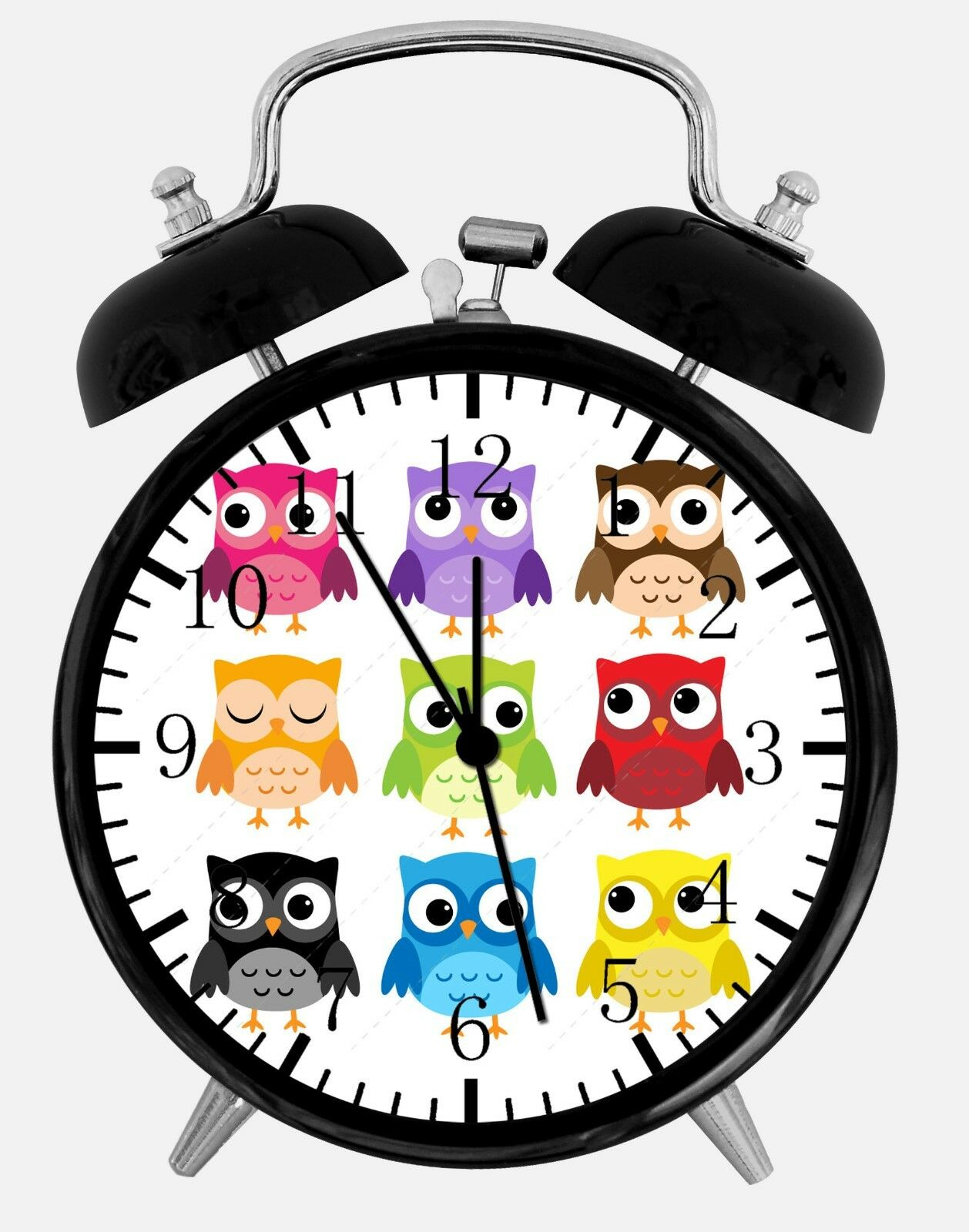 "Cute Owl Alarm Desk Clock 3.75"" Home or Office Decor E297 Nice For Gift"