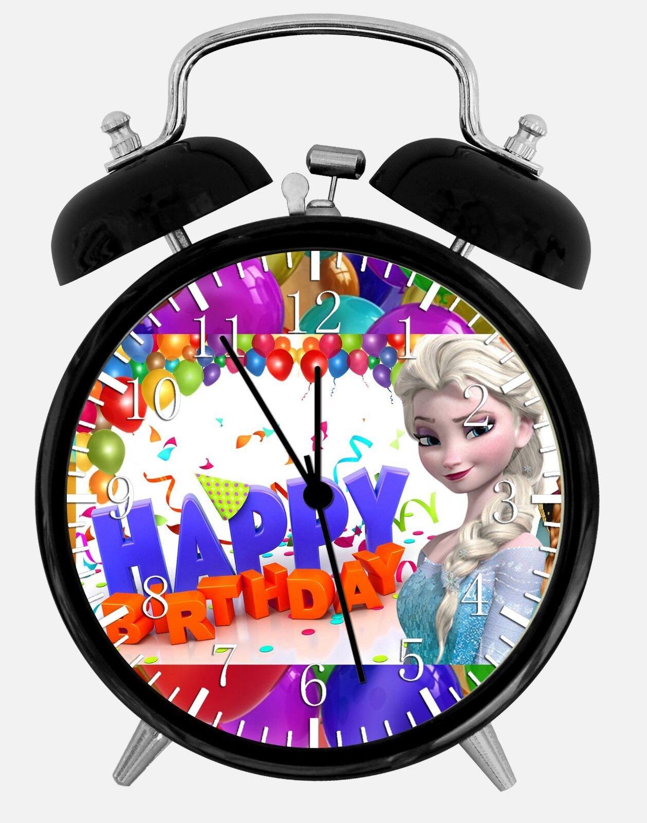 "Frozen Birthday Gift Alarm Desk Clock 3.75"" Home or Office Decor E300 Nice Gift"
