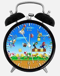 Super Mario Games Alarm Desk Clock 3.75 Home or Office Decor W425 Nice For Gift