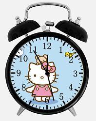 Hello Kitty Birds Alarm Desk Clock 3.75 Home or Office Decor X14 Nice For Gift