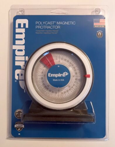 NEW NIP EMPIRE POLYCAST MAGNETIC PROTRACTOR 36 MADE IN USA