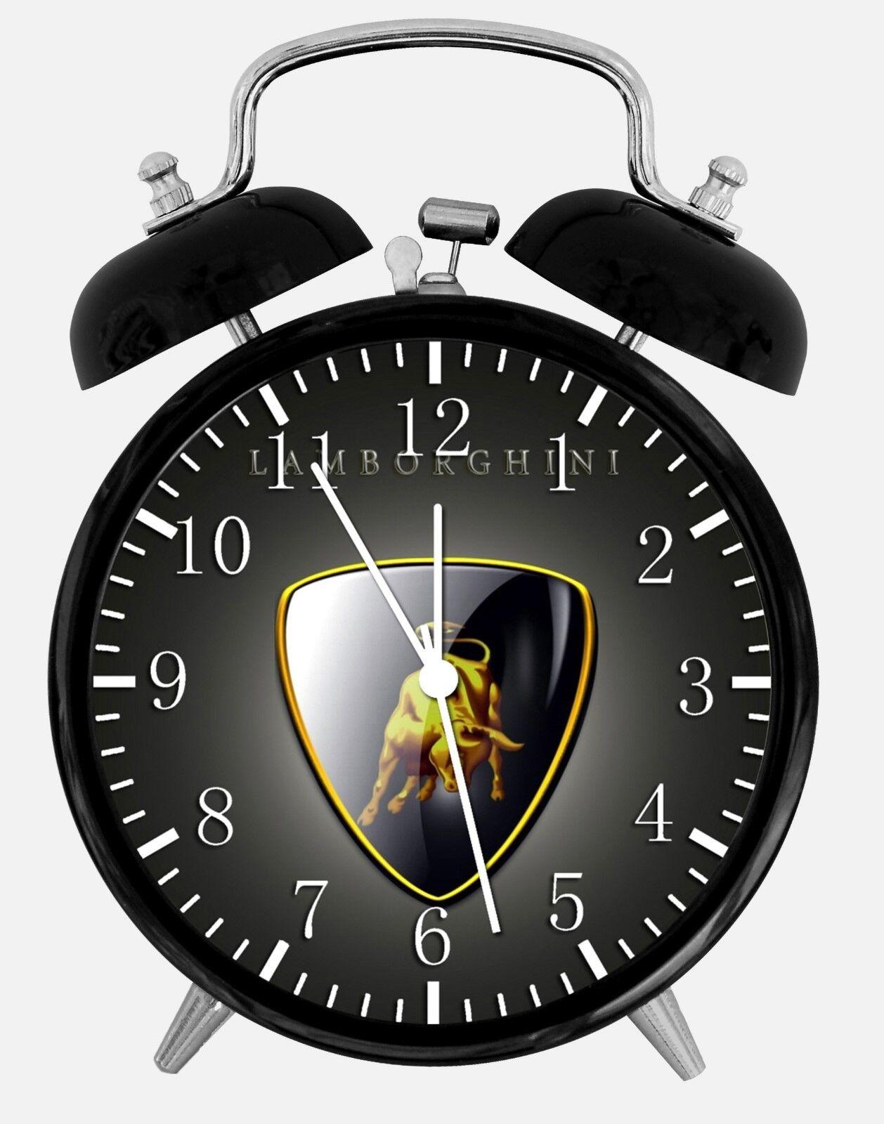 "Super Car Alarm Desk Clock 3.75"" Home or Office Decor W431 Nice For Gift"