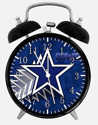 Dallas Cowboys Alarm Schreibtisch Uhr 9.5cm Heim oder Büro Dekor Z180 Schön ()