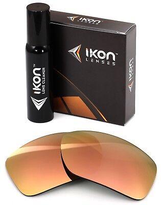 Polarized IKON Replacement Lenses For Maui Jim Canoes MJ-208 - Rose Gold