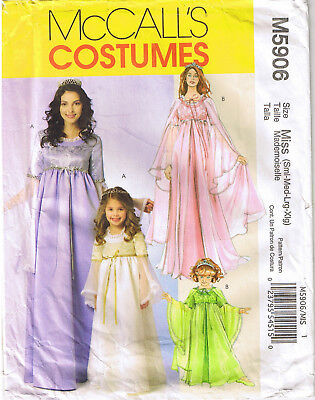 Misses Princess Angel Fairy God Mother Cosplay Costume Sewing Pattern S M L XL