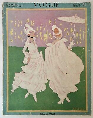 Vogue - August 1, 1914 Back Issue - Helen Dryden cover art