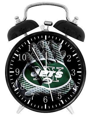 New York Jets Football NFL Alarm Desk Clock Nice For Decor or Gifts (New York Jets Desk Clock)