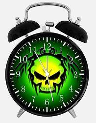 Skull Alarm Desk Clock 3.75 Home or Office Decor E168 Nice For Gift