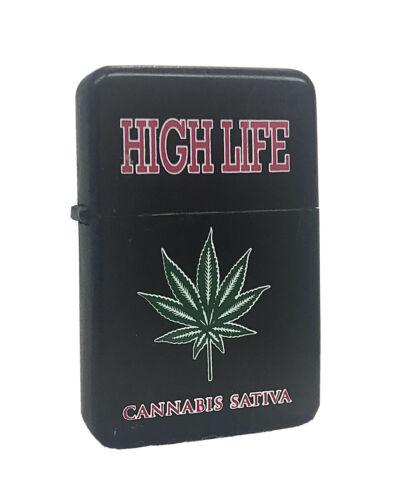 high life marijuana weed leaf black flip