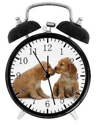 Cute Cocker Spaniel Alarm Desk Clock 3.75