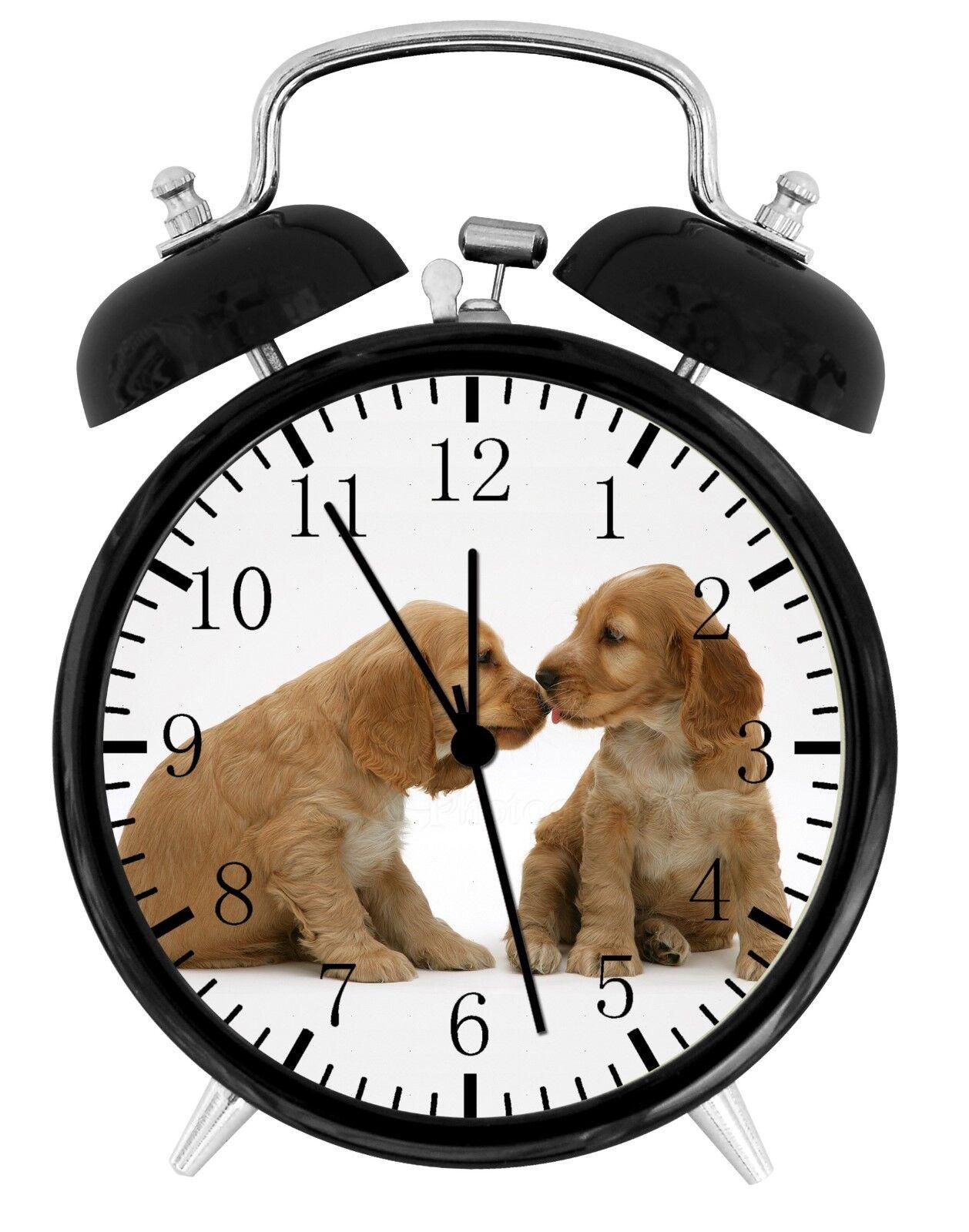 """Cute Cocker Spaniel Alarm Desk Clock 3.75"""" Home or Office Decor E292 Nice Gift"""
