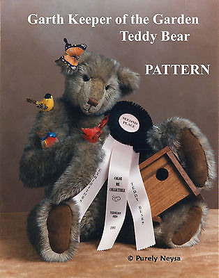 "Mohair/Plush ""Garth"" Teddy Bear PATTERN by Neysa A. Phillippi of Purely Neysa"