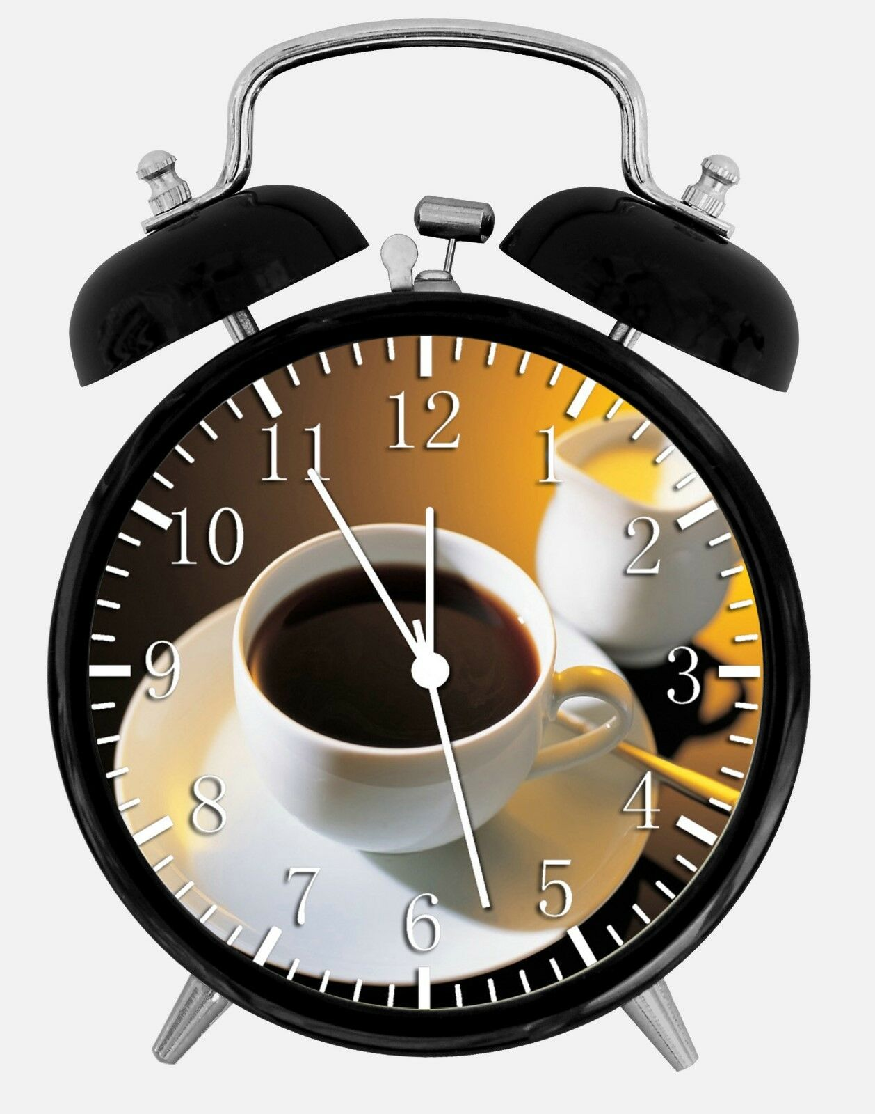 """Cup of Coffee Alarm Desk Clock 3.75"""" Home or Office Decor Y40 Nice For Gift"""