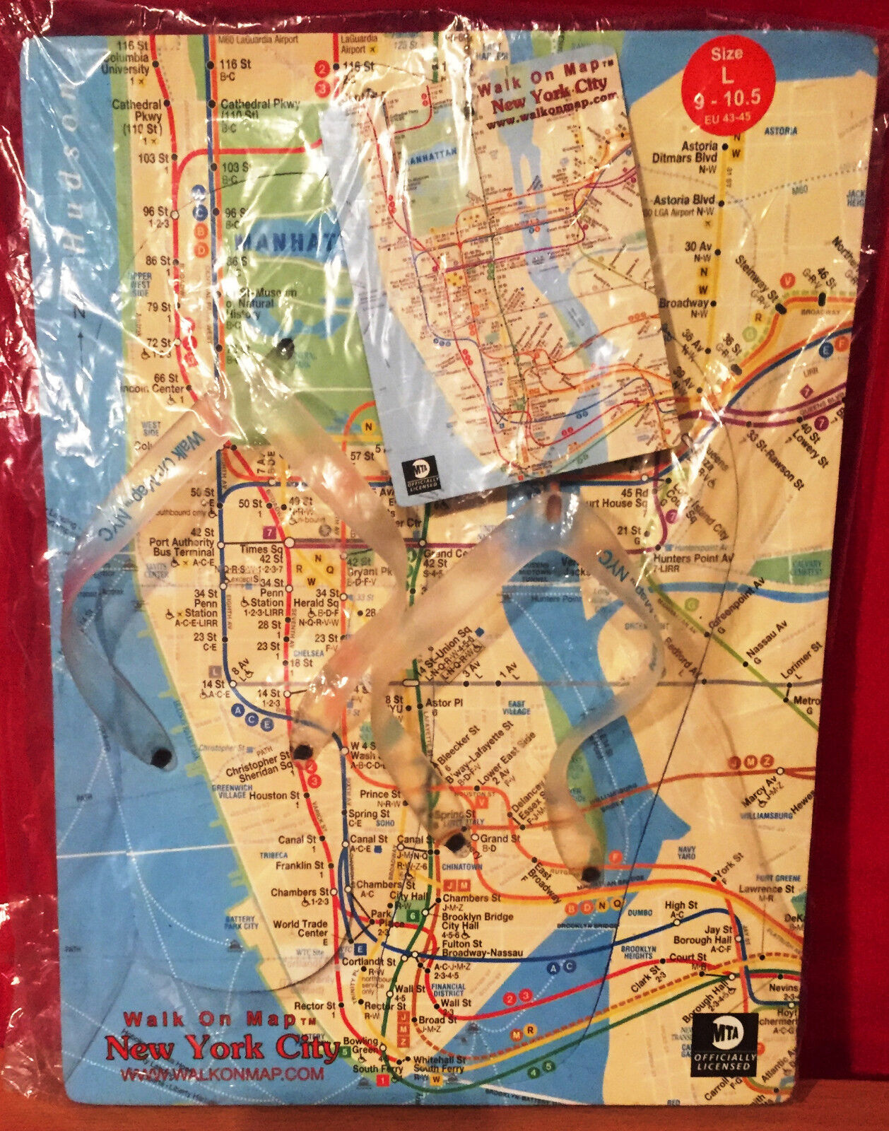 Large Ny Subway Map.Details About Nyc Subway Map Flip Flops Nyc Tourist Sandals Size Large 9 10 5