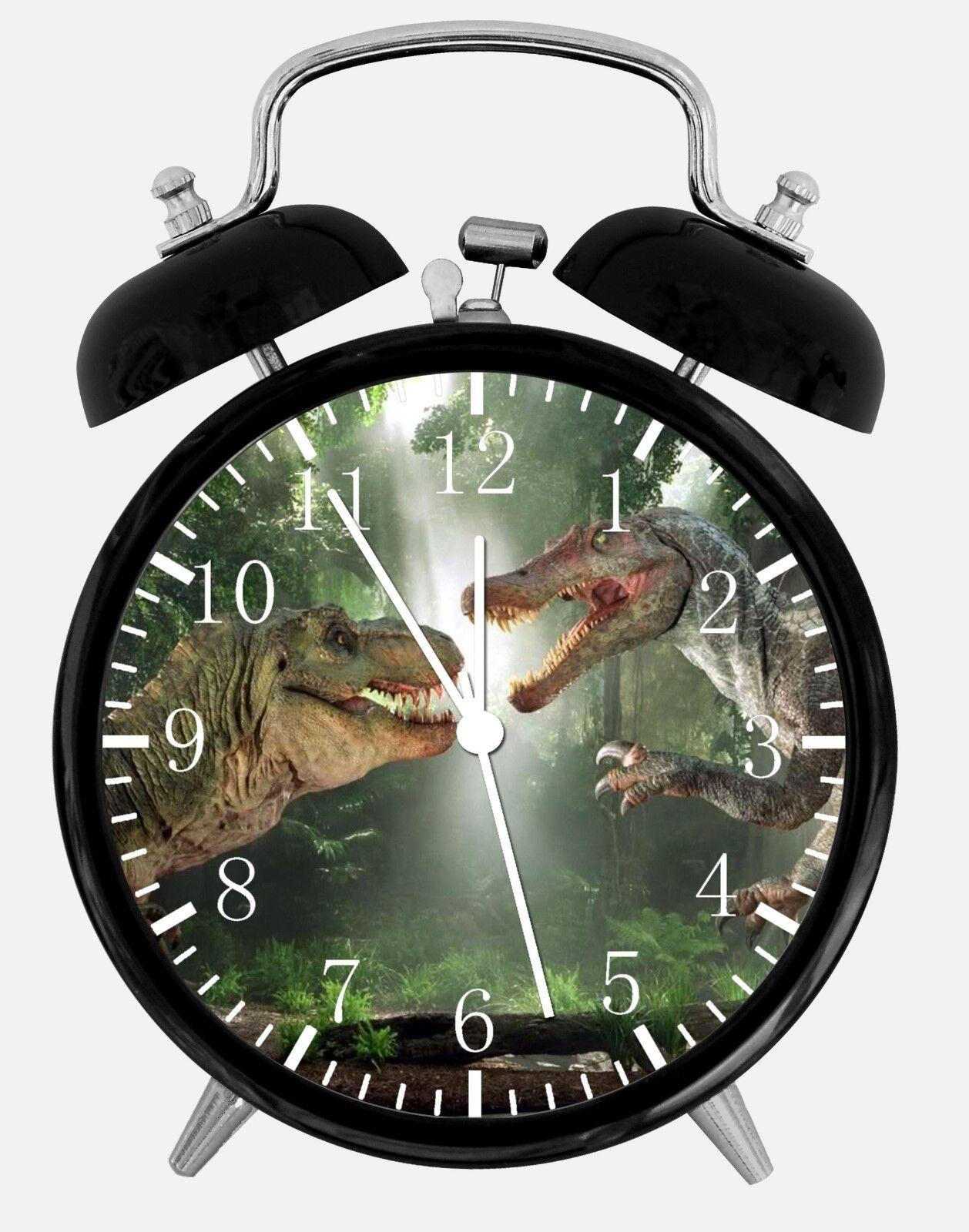 """Dinosaur Alarm Desk Clock 3.75"""" Home or Office Decor E294 Nice For Gift"""
