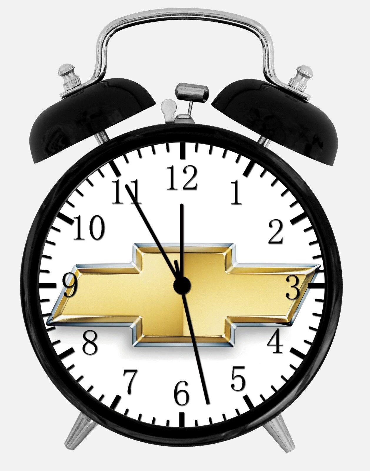 "Chevrolet Alarm Desk Clock 3.75"" Home or Office Decor W437 Nice For Gift"