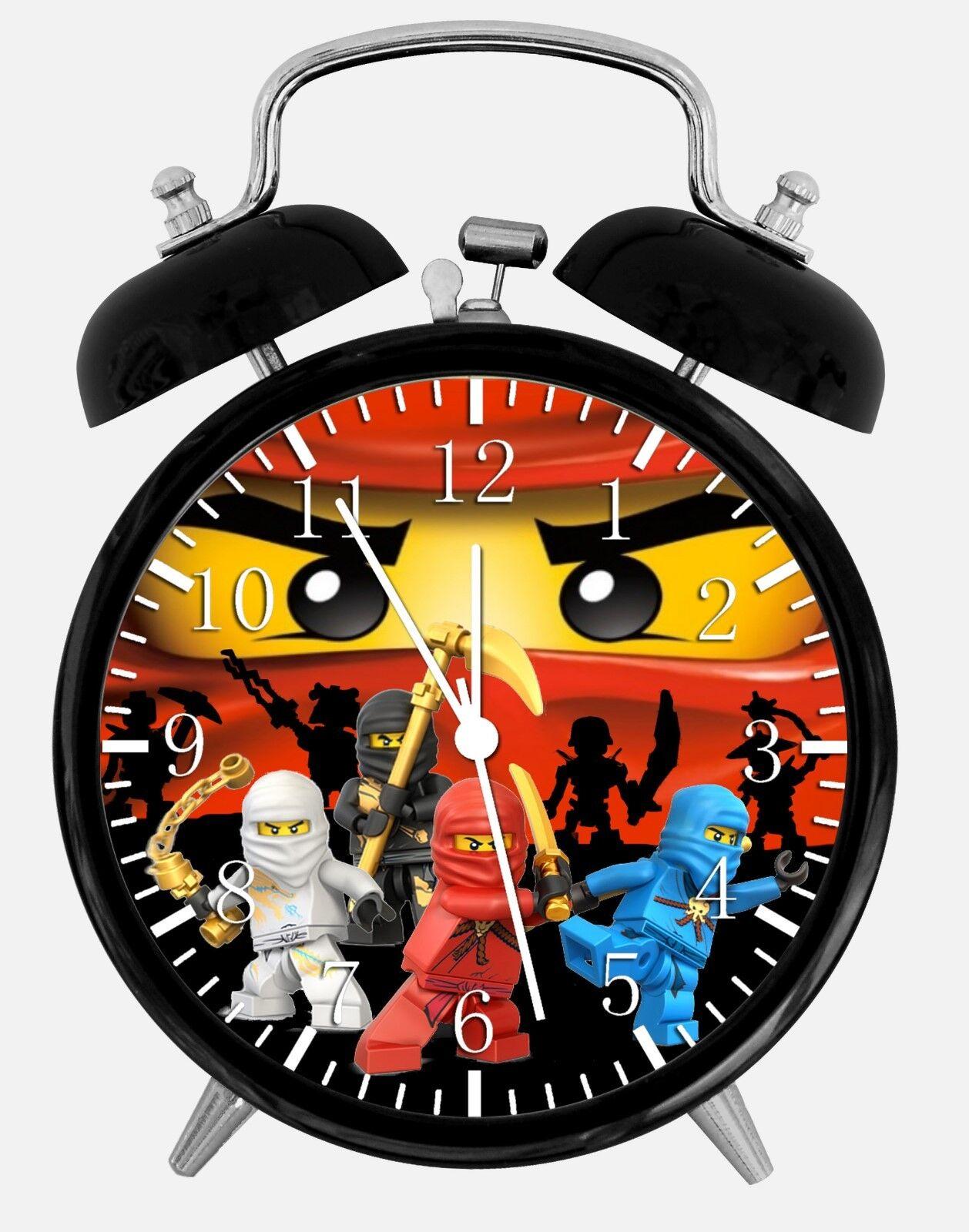 "Lego Ninjago Alarm Desk Clock 3.75"" Home or Office Decor W459 Nice For Gift"