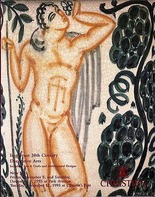 Christie's New York Important 20th Century Decorative Arts Crafts Architectural