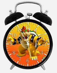 Super Mario Bowser Alarm Desk Clock 3.75 Home or Office Decor Z151 Nice Gift