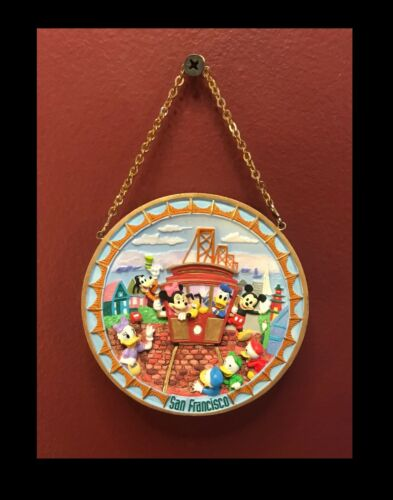 SAN FRANCISCO RELIEF PLATE~WALT DISNEY~GALLERY COLLECTIBLE~MICKEY AND FRIENDS