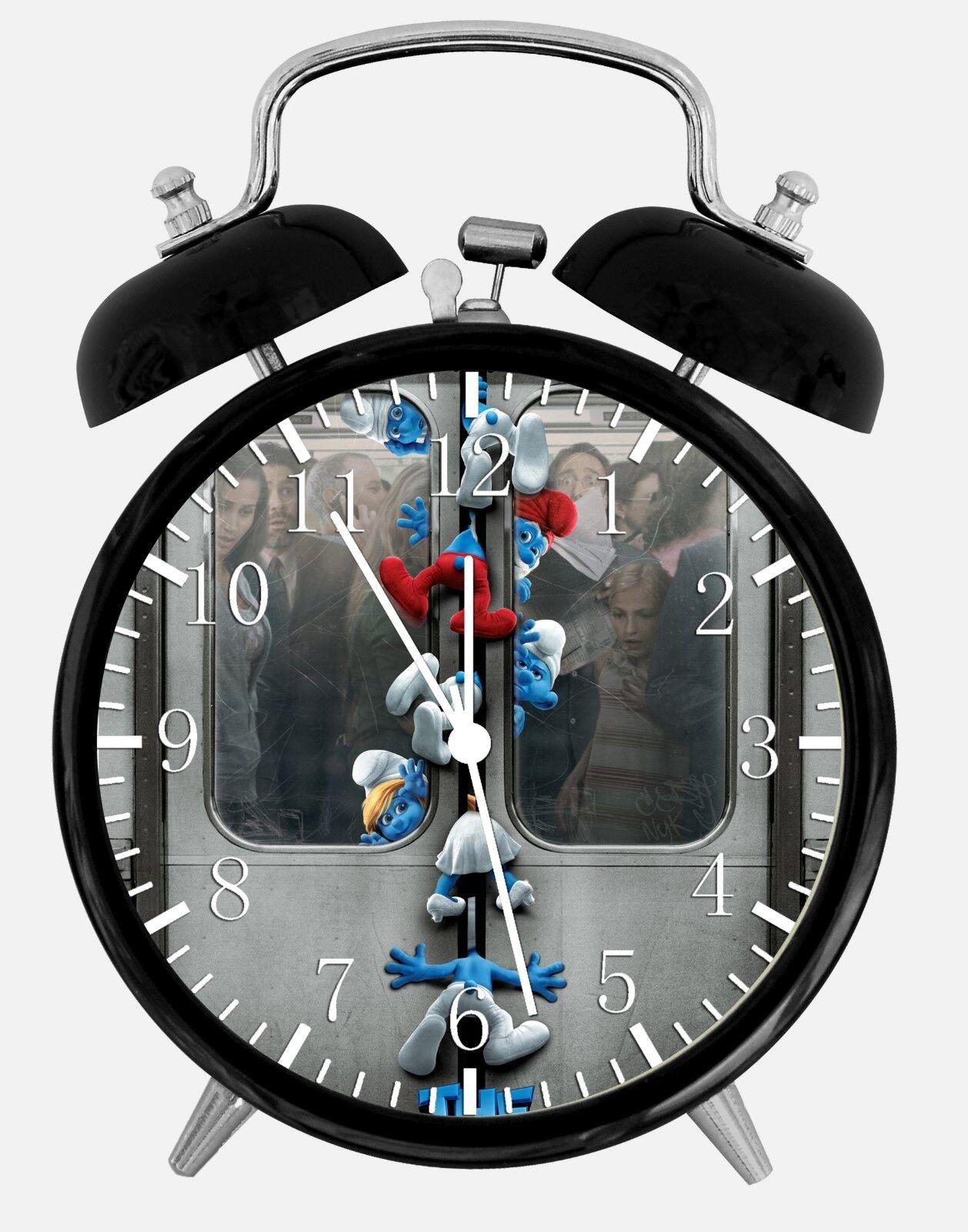 "The Smurfs Alarm Desk Clock 3.75"" Room Office Decor W258 Nice For Gift"