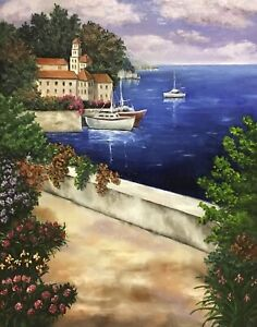 The Harbour, original oil painting sold direct from artist, 71 x 56 cm Bentleigh East Glen Eira Area Preview