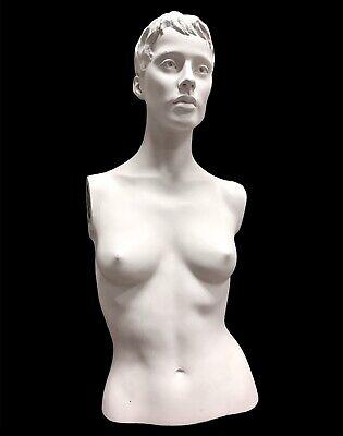 Vintage Butch Female Woman Mannequin Bust Torso Display Creepy Decor Oddity
