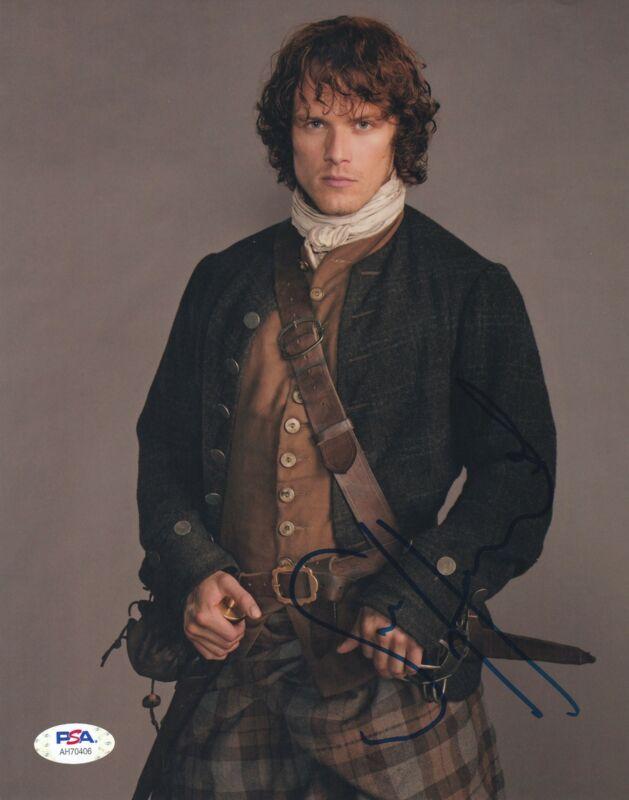 Sam Heughan Signed 8x10 photo Outlander Jamie Fraser PSA DNA