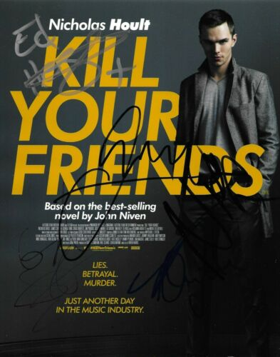 Nicholas Hoult +4 Multi-Signed Kill Your Friends 10x8 Photo AFTAL *SIGNED BY 5*