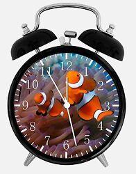Tropical Ocean Fish Alarm Desk Clock 3.75 Room Office Decor E302 Nice For Gift