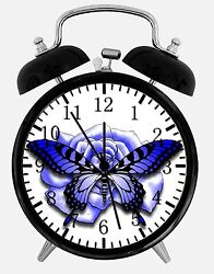 Beautiful Butterfly Alarm Desk Clock 3.75 Room Office Decor W31 Nice For Gift