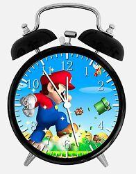 Super Mario Alarm Desk Clock 3.75 Room Office Decor W21 Will Be a Nice Gift