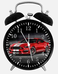 Mustang Alarm Desk Clock 3.75 Home or Office Decor E268 Nice For Gift