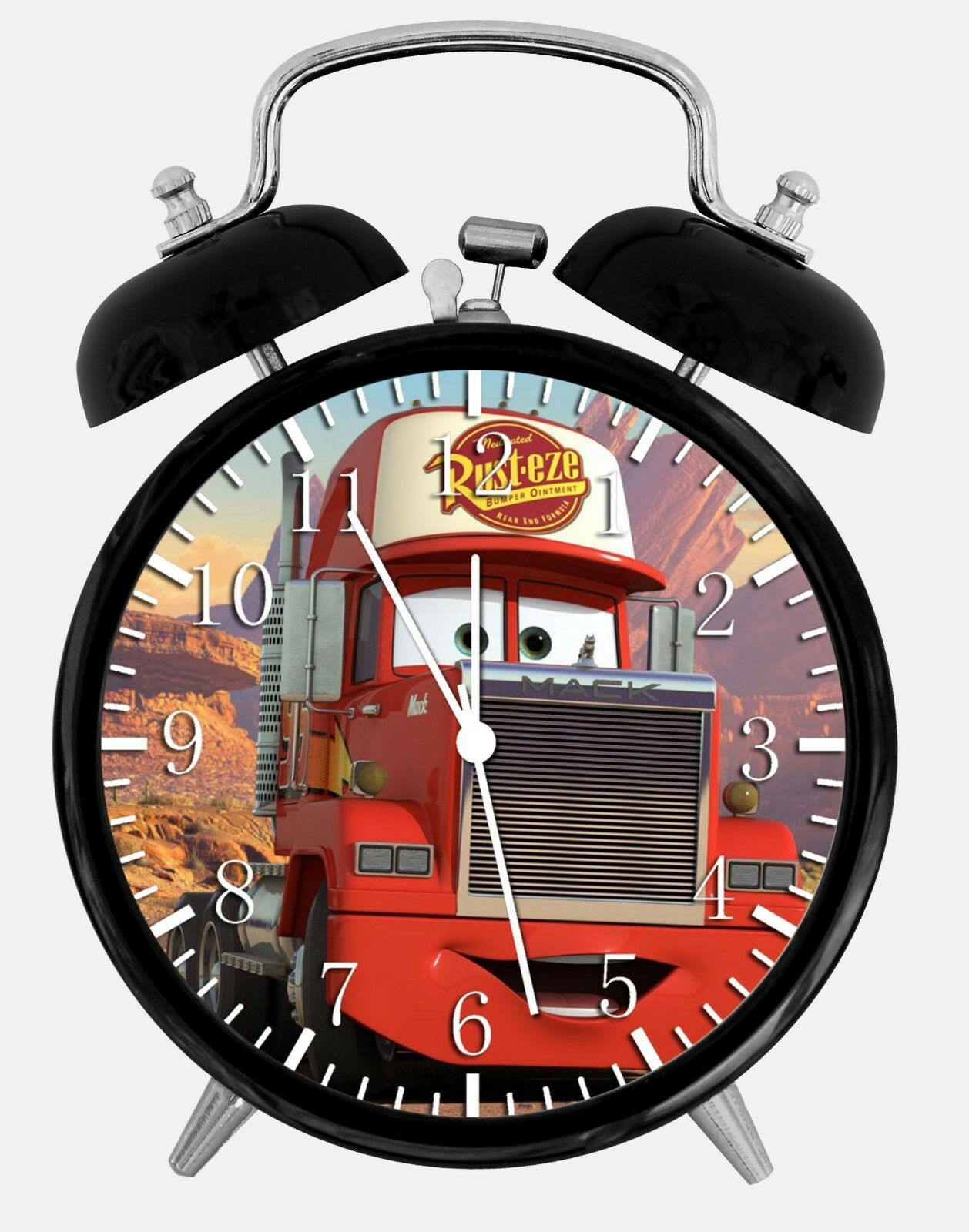 "Disney Cars Mack Alarm Desk Clock 3.75"" Room Office Decor W261 Nice For Gift"