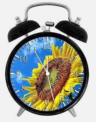 """Sun Flower Alarm Desk Clock 3.75"""" Home or Office Decor Z175 Nice For Gift"""