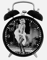 Marilyn Monroe Alarm Desk Clock 3.75 Home or Office Decor E424 Nice For Gift