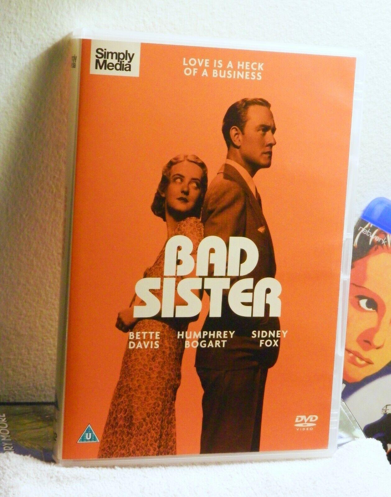 Bad Sister Mint DVD Region 2 1931 Bette Davis, Sidney Fox, Humphrey Bogart - $4.50