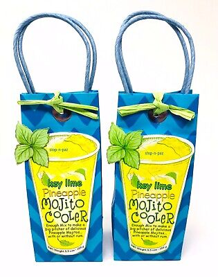 Key Lime Pineapple Mojito Cooler Drink Mix Pelican Bay 5.5oz Each (2 - Pineapple Mojito