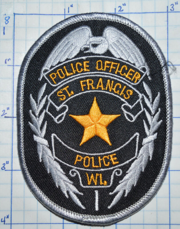 WISCONSIN, ST. FRANCIS POLICE OFFICER PATCH