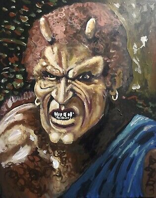 Paintings Of Halloween (CALIBOS CLASH OF THE TITANS 1981 MONSTER HORROR POP ART PAINTING 16X20)