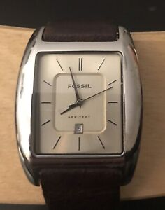 FOSSIL MENS WATCH LEATHER BAND